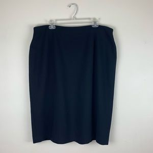 TALBOTS Women Black Career Pencil Skirt